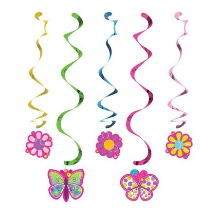 Access Butterfly Sparkle Dizzy Danglers, 5 Ct