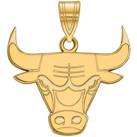 Logoart Nba Chicago Bulls 14Kt Yellow Gold Large Pendant