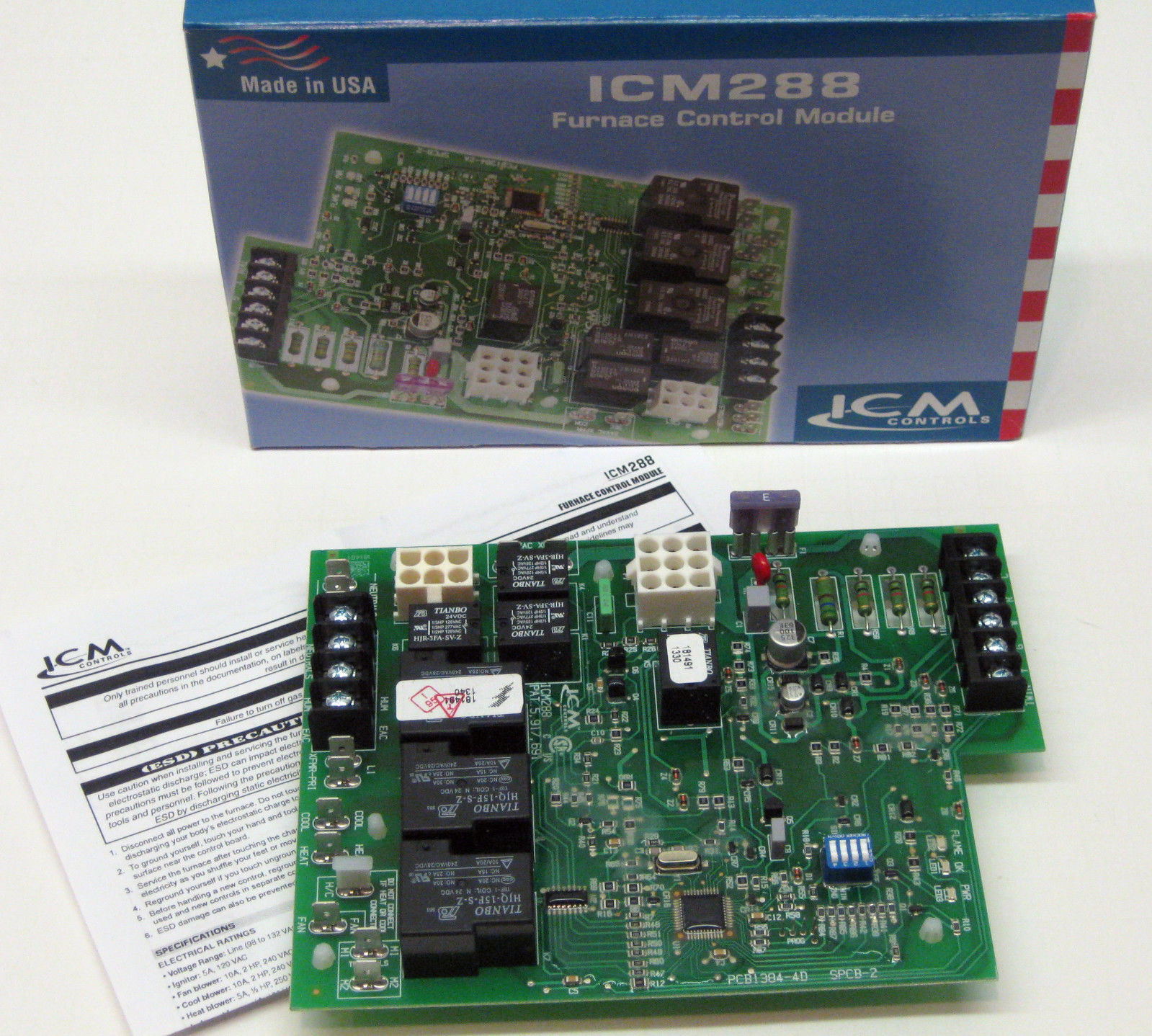 Icm288 Icm Furnace Control Circuit Ignition Board Module For Rheem Replacement Household Boards 62 24084 82