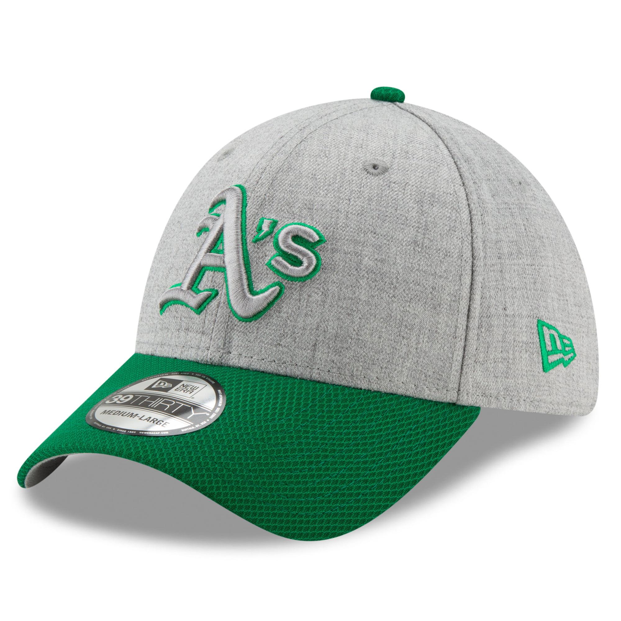 Oakland Athletics New Era St. Patrick's Day Change Up Redux 39THIRTY Flex Hat - Gray/Green