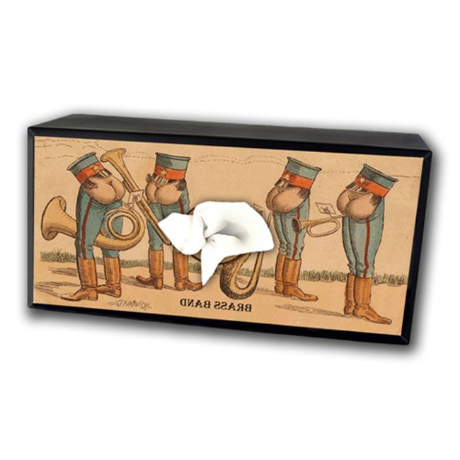Caravelle TC-3016 Brass Band Tissue Box Cover