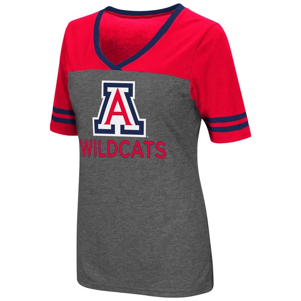 Ladies Colosseum Mctwist Arizona Wildcats Jersey T Shirt