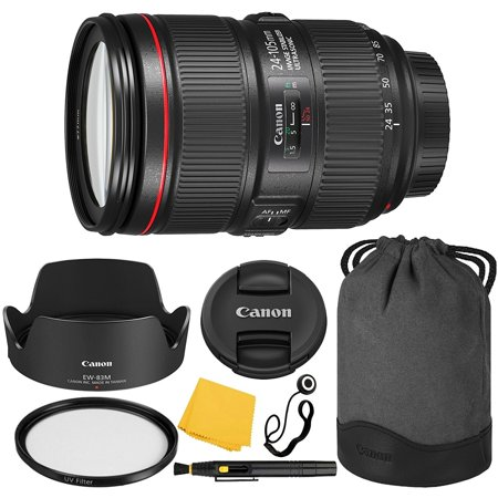 1 Collapsible Rubber Lens (Canon EF 24–105mm f/4L IS II USM Lens + UV Filter + Collapsible Rubber Lens Hood + Lens Cleaning Pen + Lens Cap Keeper + Cleaning Cloth - 24-105mm II IS: Ultrasonics Motor )