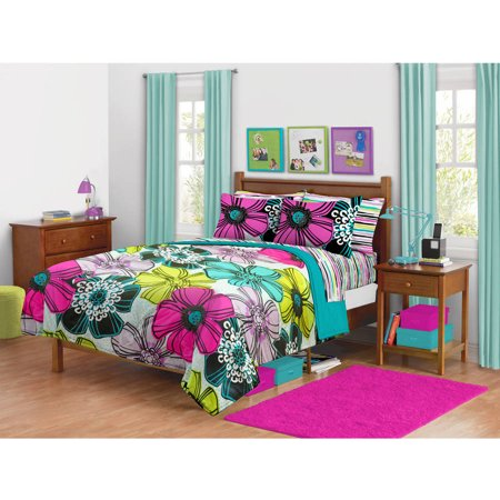your zone flower stamp bedding comforter set