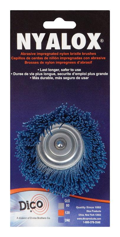 Dico 541-776-4 Nyalox Flap Brush 4-Inch Grey 80 Grit