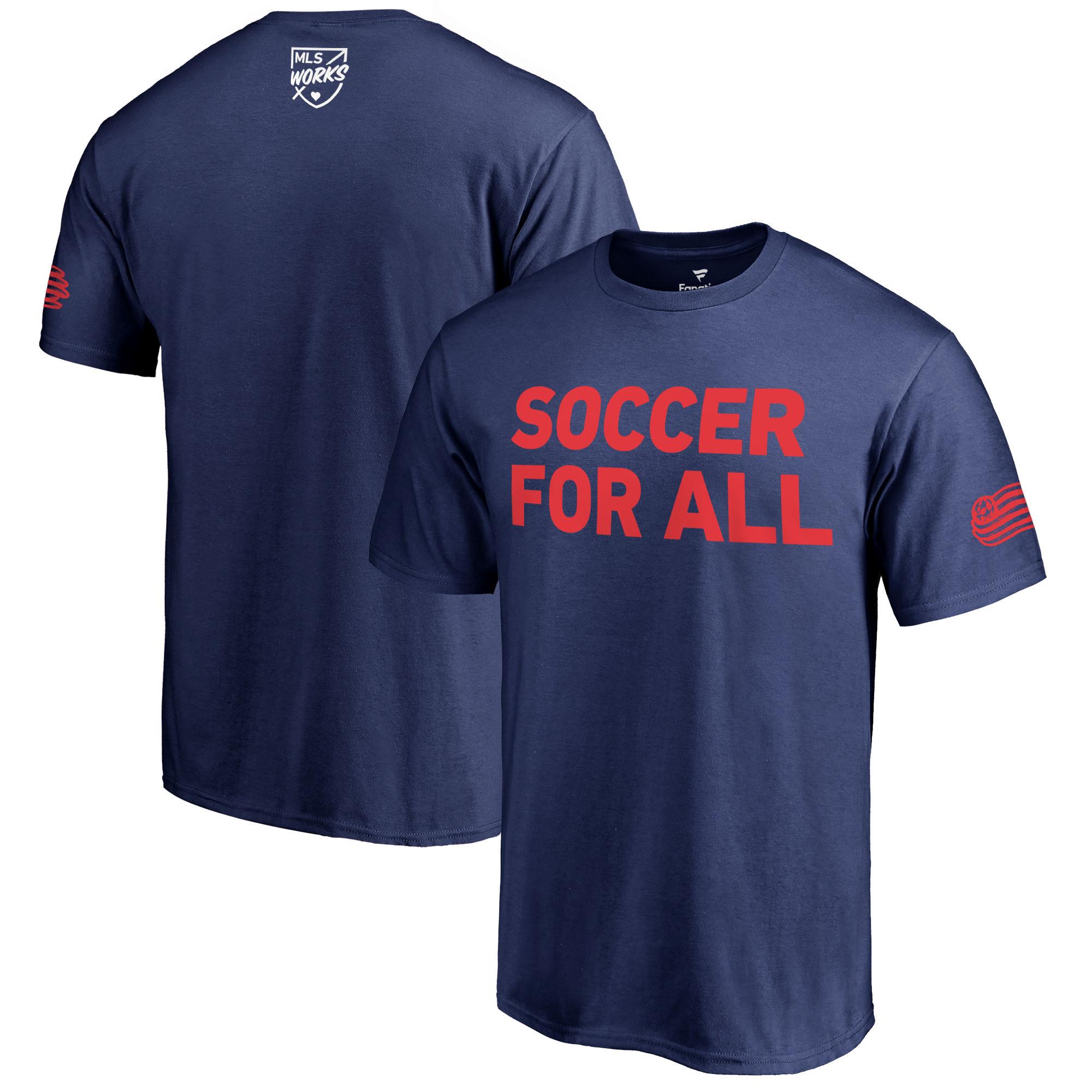 New England Revolution Fanatics Branded 2018 Soccer For All T-Shirt - Navy