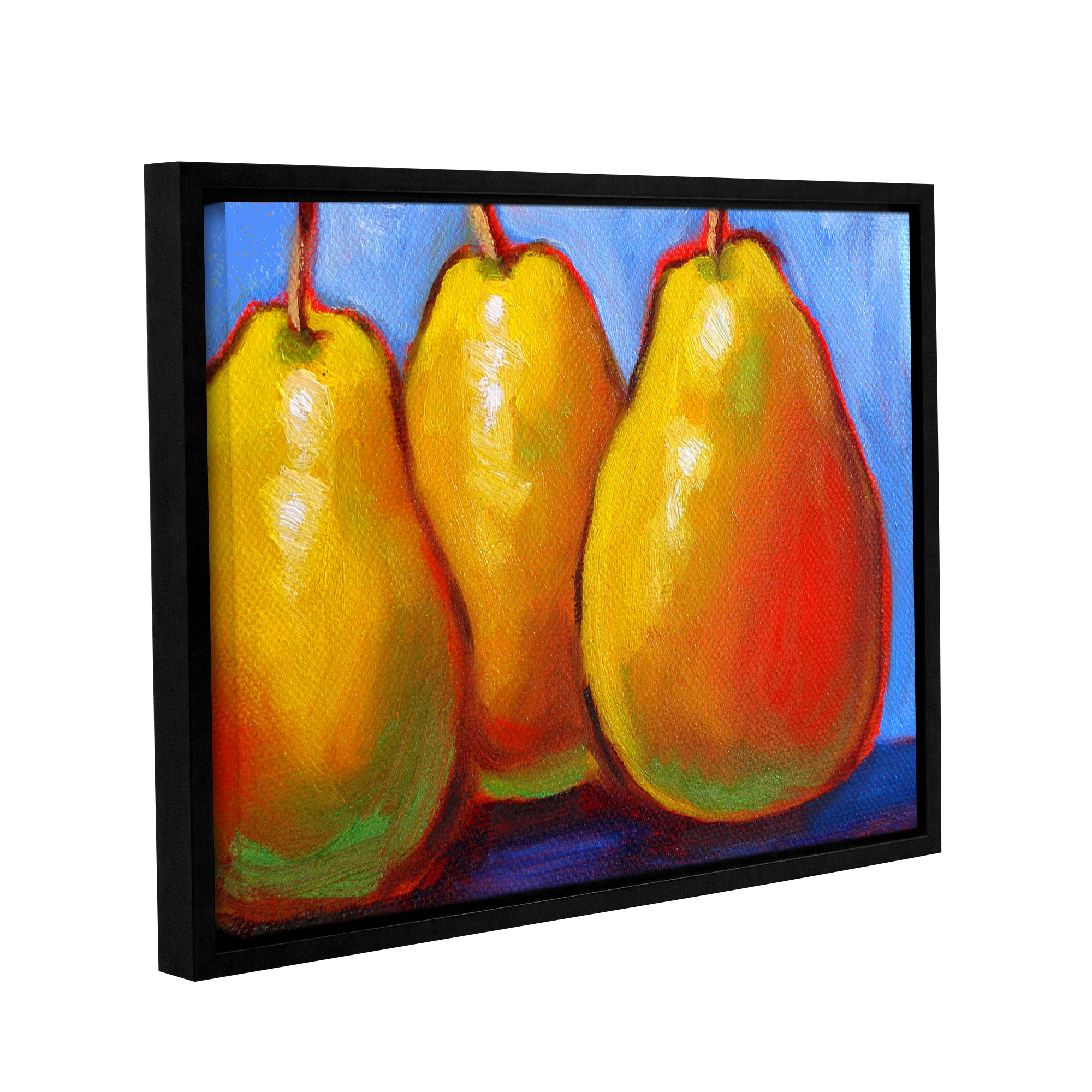 Gang of Pears\' Gallery Wrapped Floater-framed Canvas Art Print ...