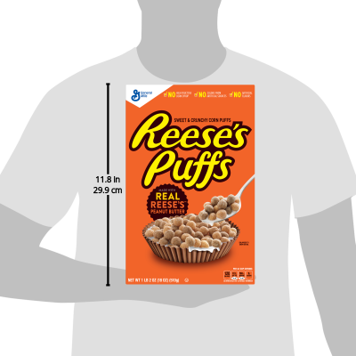 Reeses Peanut Butter Puffs Breakfast Cereal 18 Oz Box Walmartcom