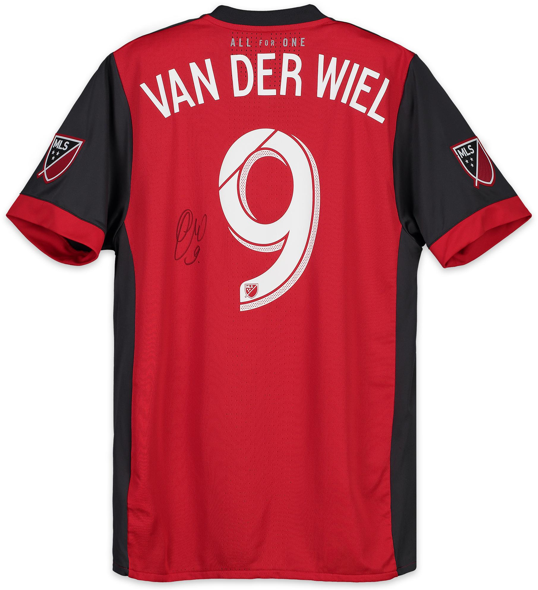 Gregory van der Weil Toronto FC Autographed Match-Used Red #9 Jersey vs. Vancouver Whitecaps on October 6, 2018 - Fanatics Authentic Certified