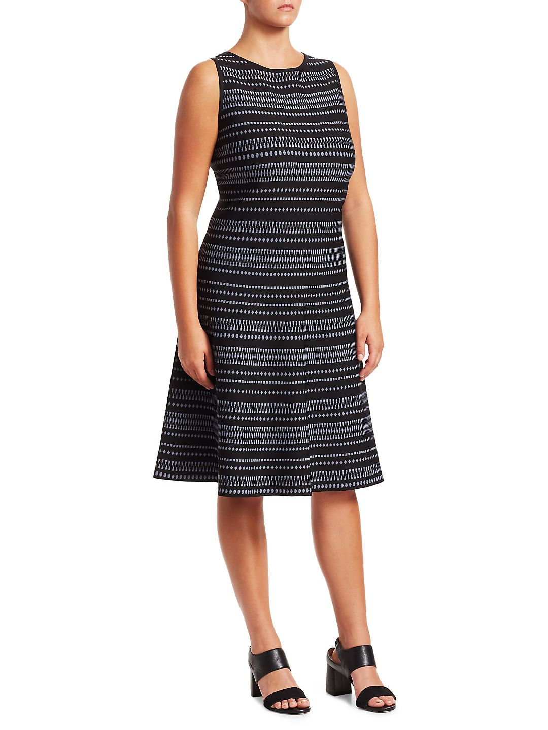 Plus This Or That Striped Fit-&-Flare Dress