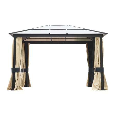 Outsunny Patio Canopy Party Gazebo Curtains Beige