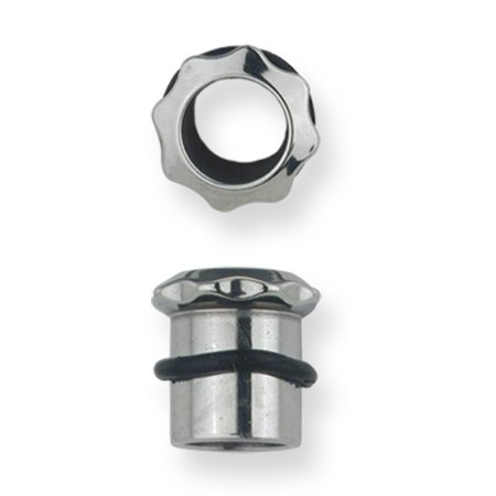 - Stainless Stl Plugs & Flesh Tunnels Hardware Theme 0G (8.23mm) Eight Tooth