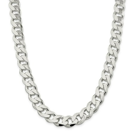 13mm Curb - Mia Diamonds Solid 925 Sterling Silver 13mm Curb Chain