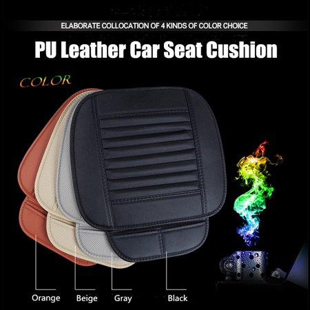 Seat Cushion Cover - Universal Car Seat Cushion Pad 3D Front Seat Cover Pad Mat Car Seat Cushion Cover Breathable Soft Full Surround Protect Seat PU Leather For Auto Supplies