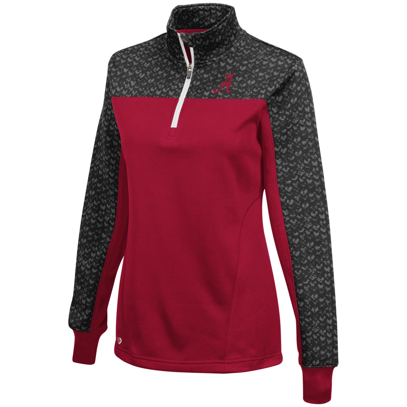 """Alabama Crimson Tide Women's NCAA """"Burst"""" 1/4 Zip Pullover Sweatshirt"""