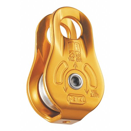 Petzl Pulley with Fixed Point, Aluminum, Yellow Yellow  Aluminum  P05W