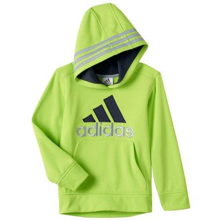 e65514666 adidas - Adidas Toddler Boys Neon Green Poly Fleece Athletic Pullover Hoodie  - Walmart.com