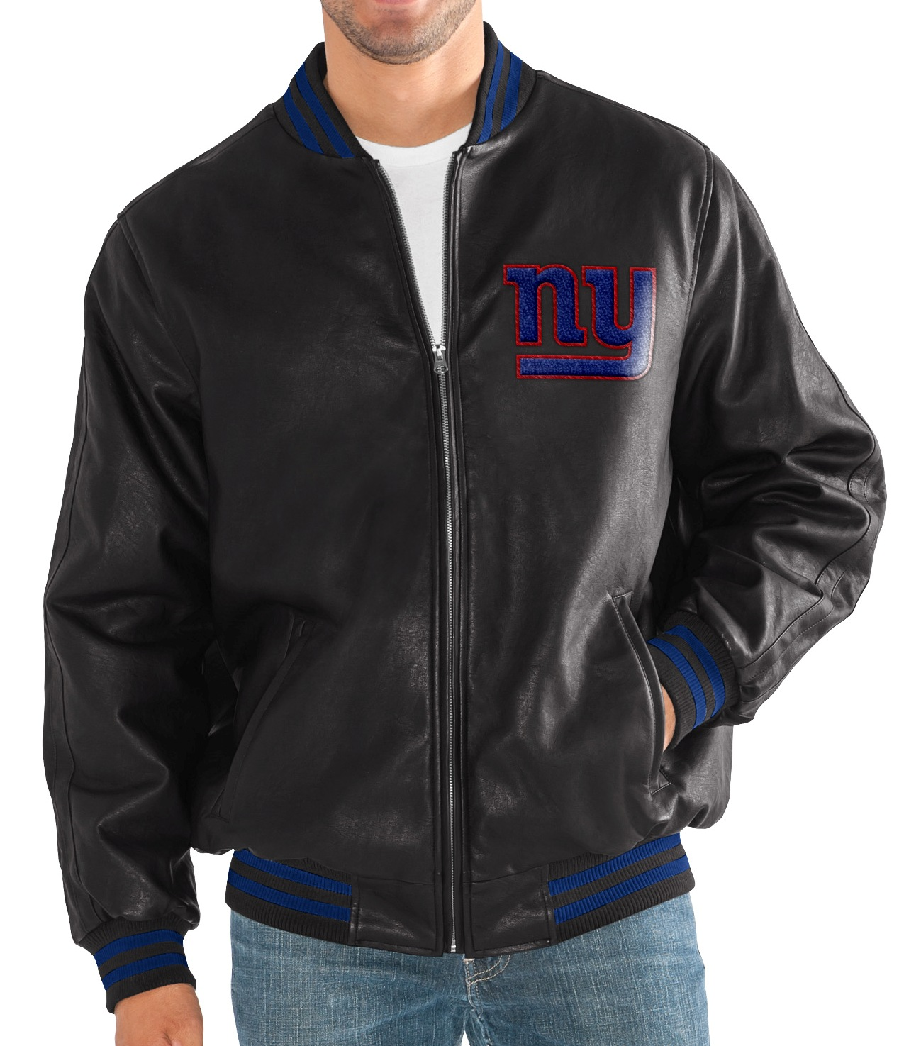 "New York Giants G-III NFL ""Stiff Arm"" Men's Premium Varsity Jacket by G-III Sports"