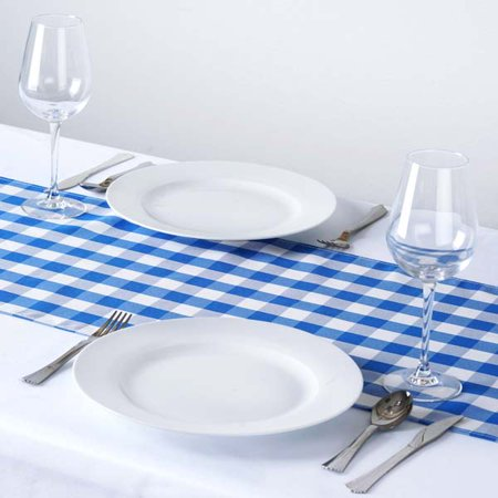 - Efavormart Gingham Checkered Polyester Restaurant Table Top For Weddings Birthday Banquets Decor Fit Rectangle and Round Table