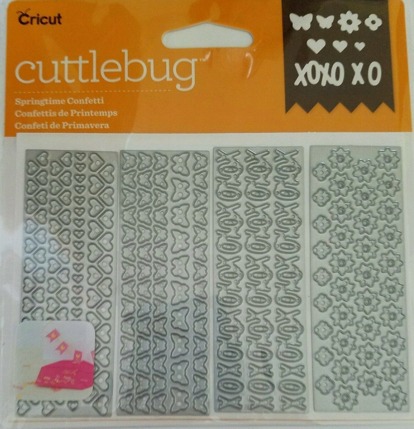 Cricut Springtime Confetti 4 assorted Cut & Emboss Dies, Cuts and embosses a variety of materials By Cuttlebug