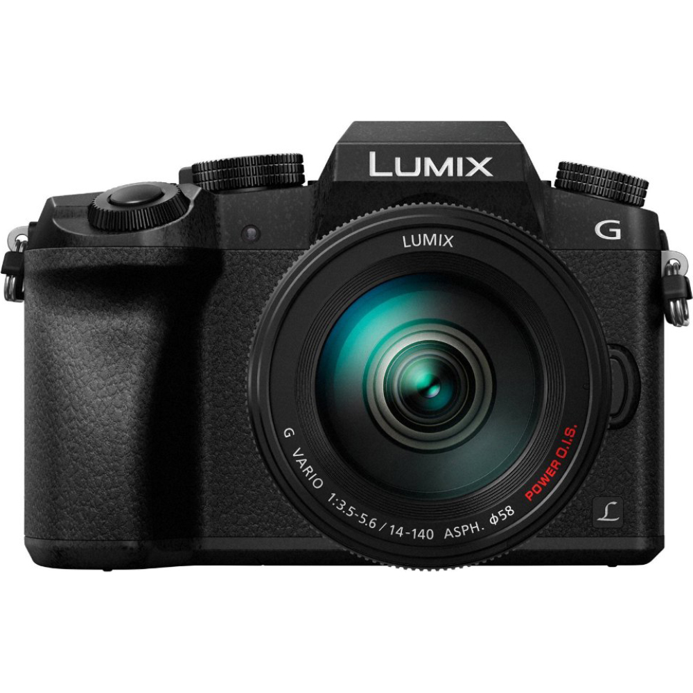 Panasonic LUMIX G7 Interchangeable Lens HD Black DSLM Camera with 14-140mm Lens