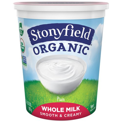 Stonyfield Plain Organic Whole Milk Yogurt, 32 oz
