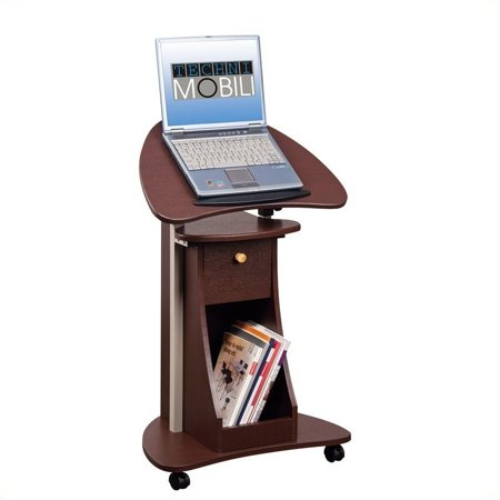 Kingfisher Lane Deluxe Height Adjustable Laptop Cart in Chocolate ()