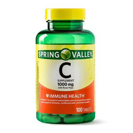 (2 Pack) Spring Valley Vitamin C Tablets, 1000 mg, 100 (1,000 Mg 100 Tabs)