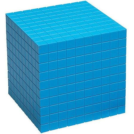 School Smart Base Ten Components, Plastic Cubes, 10 Centimeters Each (Smart Cubes)