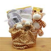 GBDS 890832-Y Jungle Safari New Baby Gift Basket - Yellow