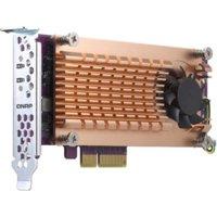 QNAP QM2-2P-384 M.2 to PCI Express Adapter QM22P384