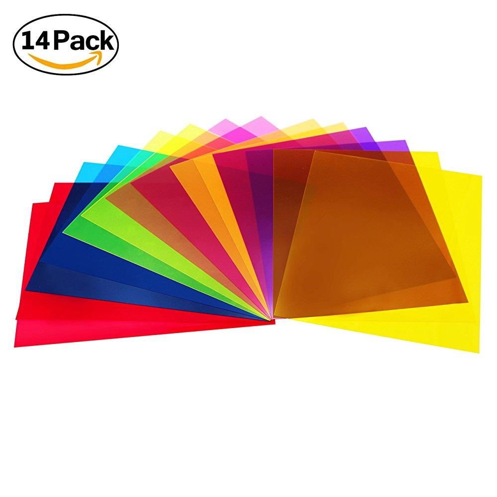 Etyhf 14 Pack Colored Overlays Transparency Color Film Plastic