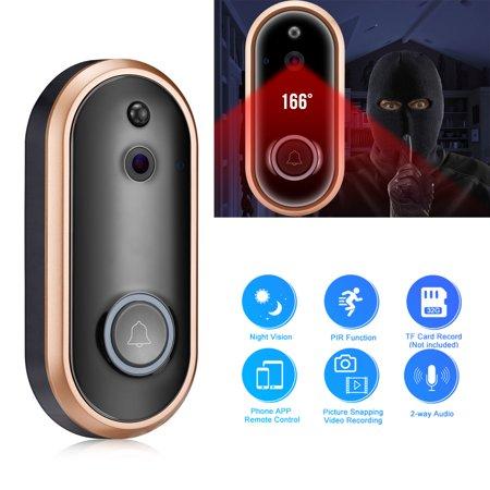 EEEKit Wireless WiFi Door Bell, 720P/1080P Smart Home Security Doorbell, Camera Wireless Security Intercom Doorphone with Smart PIR Motion Detection