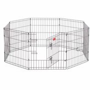 Lucky Dog Heavy-Duty Pet Exercise Pen with Stakes, 24""