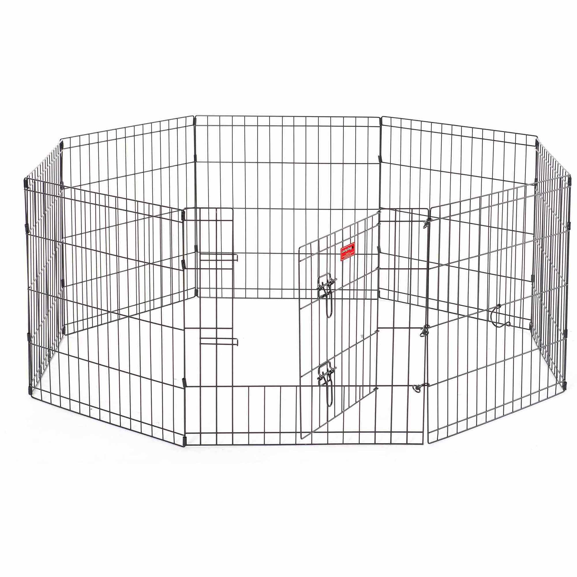 Lucky Dog Heavy-Duty Pet Exercise Pen with Stakes, 24