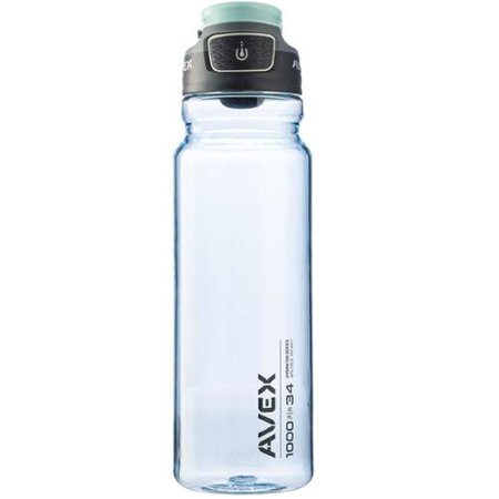 bdfafc885e AVEX FreeFlow Autoseal Water Bottle, 34oz – Ideal for Outdoor Lifestyles,  Travel, Gym
