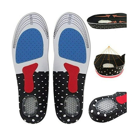 Women Gel Orthotic Sport Running Insoles Insert Shoe Pad Arch Support Cushion (Gel Shoe Inserts)