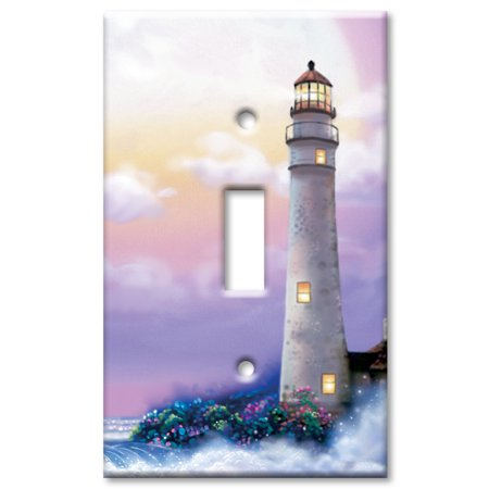 Art Plates brand - Single Gang Toggle Wall Plate - Lighthouse of Dreams