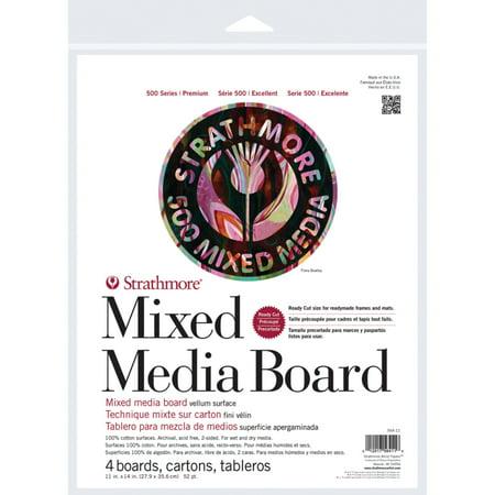 Mixed Media Canvas (Strathmore Mixed Media Board 500 Series, 11