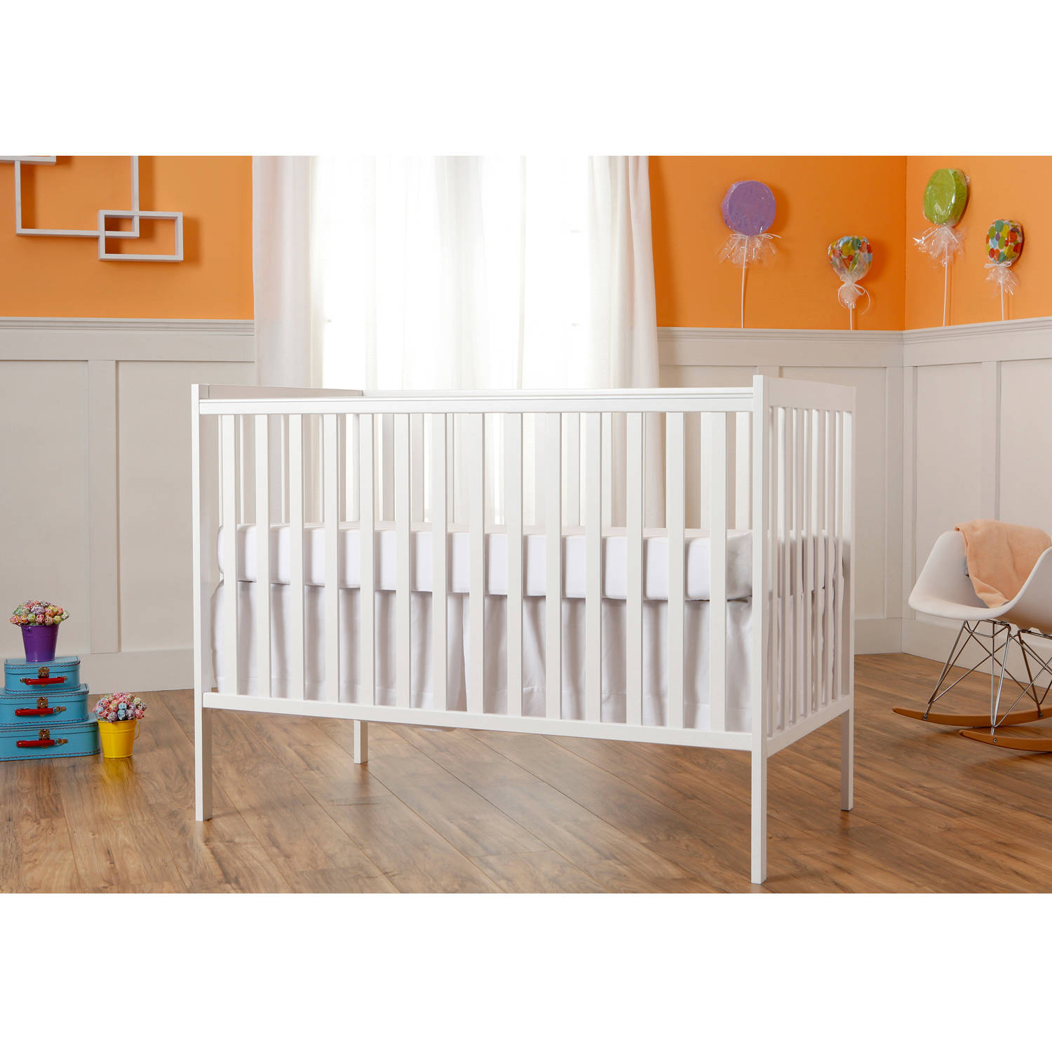 Dream On Me Synergy 5-in-1 Convertible Crib, White