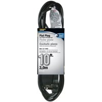 Cord Flat Extension Black 3 out 10 feet