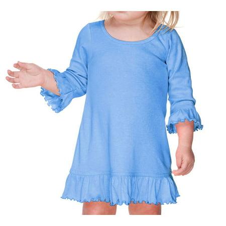 Kavio I1P0643 Infants Girls Ruffled 3/4 Sleeve A-Line - Ruffle A-line
