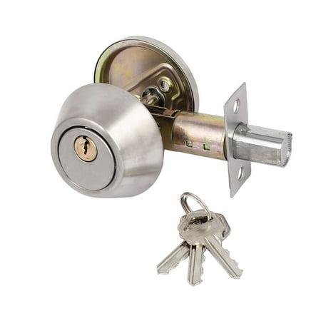 Bedroom Entry Locker Single Cylinder Deadbolt 35mm-45mm Thick Door Locks With Keys