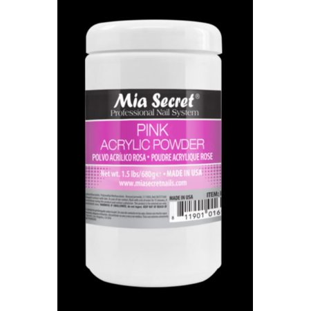24 oz PINK ACRYLIC POWDER Mia Secret MADE IN USA!+ FREE Temporary Body Tattoo Usa Body Powder