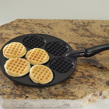 Nordic Ware Silver Dollar Waffle Griddle, Black Anodized Aluminum Round Griddle