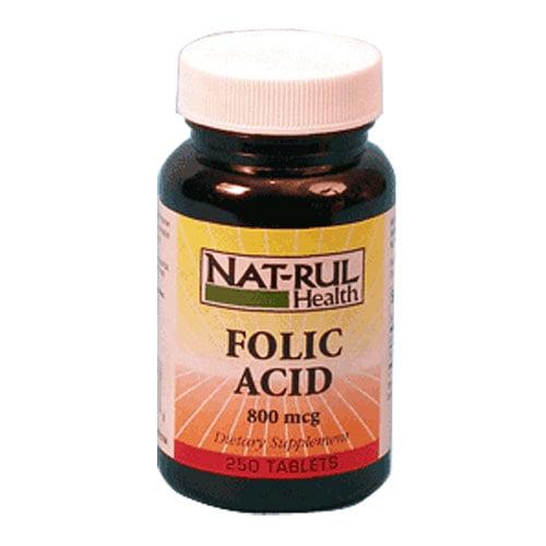 Natrul Health Folic Acid 800 Mcg Tablets - 250 Ea