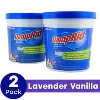 DampRid Refillable Moisture Absorber, Lavender Vanilla, 10.5 Oz, 2 Pack