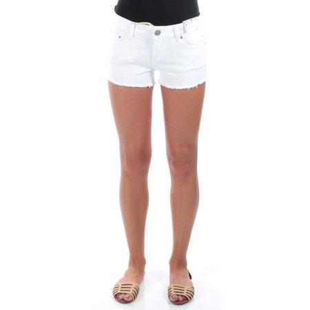 - INDIGO REIN Womens White Frayed Cropped Pants Juniors  Size: Size 0