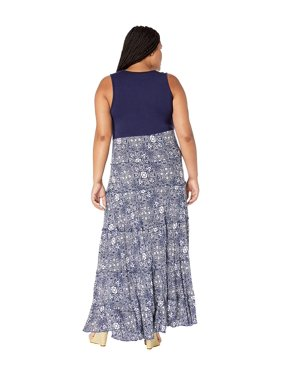 Karen Kane Plus Plus Size Topanga Tiered Dress Print