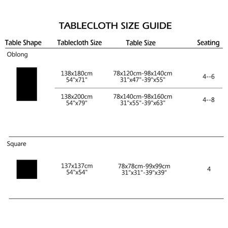 "Tablecloth PVC Vinyl Oil Stain Resistant Wedding Table Cloth 54"" x 71"", #9 - image 6 de 7"